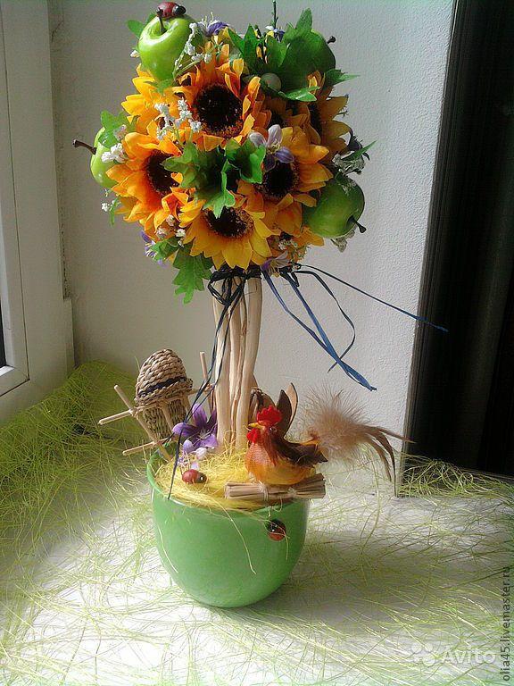 Топиарии из цветов своими руками мастер класс